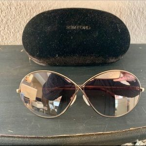 NWOT Tom Ford mirrored sunglasses